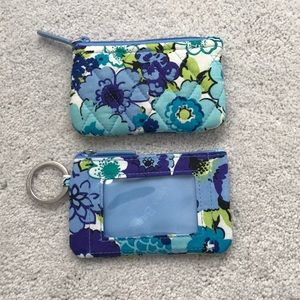 Blueberry Blooms keychain wallet iconic ID case